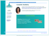 Screenshot of a cosmetic dentistry page