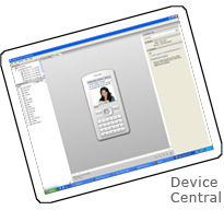 Screenshot of Adobe Device Central